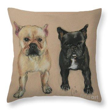 Pardon My French Throw Pillow by Cori Solomon