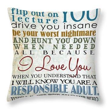 Parents Promise Throw Pillow