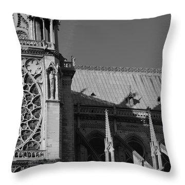 Paris Ornate Building Throw Pillow