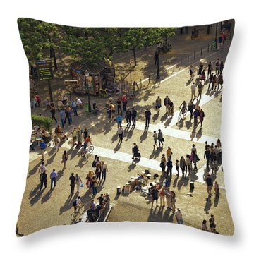 Throw Pillow featuring the photograph Paris Afternoon by John Hansen