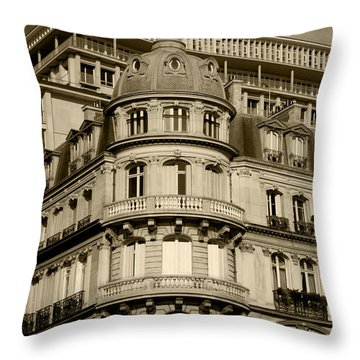 Throw Pillow featuring the photograph Paris Architecture by Ivete Basso Photography