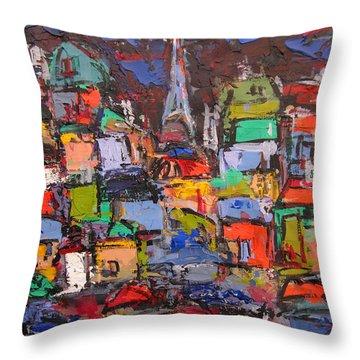 Paris At Night 03 Throw Pillow