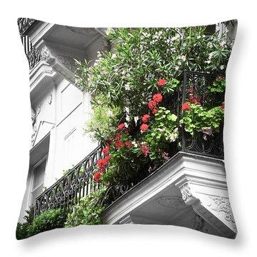 Paris Balcony Throw Pillow by Elena Elisseeva