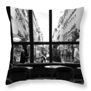 Paris Cafe Throw Pillow