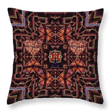 Throw Pillow featuring the digital art Paris City Of Hearts by Joseph J Stevens