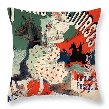 Paris Courses Throw Pillow