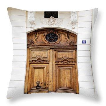 Paris Door - No. 30 - Paris Photography Throw Pillow