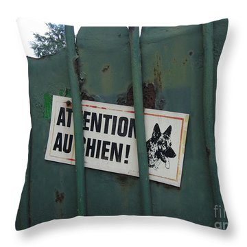 Paris - Farm Dog Throw Pillow