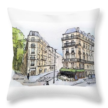 Paris Gare Du Nord Throw Pillow by Marie Minyoung Jeon
