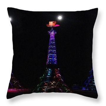 Paris Hat Trick Throw Pillow