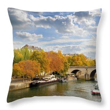 Paris In Autumn Throw Pillow
