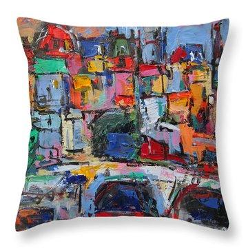 Paris In Colors Throw Pillow