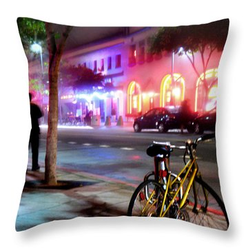 Throw Pillow featuring the photograph Paris In Santa Monica by Jennie Breeze