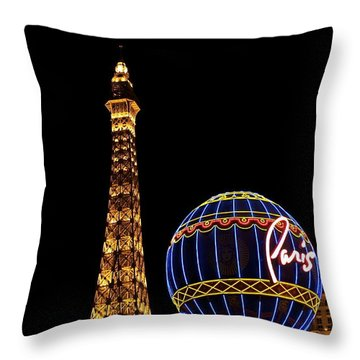 Paris In Vegas Throw Pillow