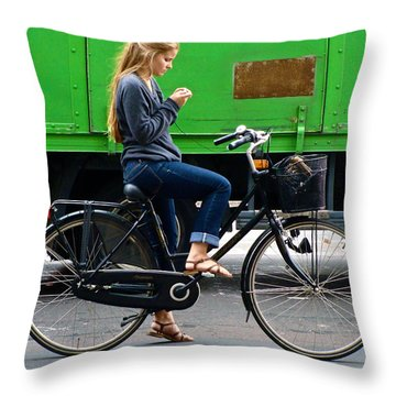 Throw Pillow featuring the photograph Paris Interlude by Ira Shander