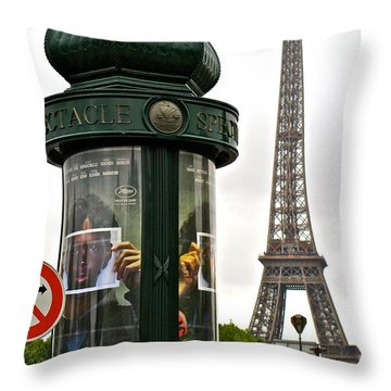 Throw Pillow featuring the photograph Paris by Ira Shander