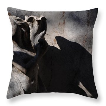 Throw Pillow featuring the photograph Paris - Lady On The Terrace In Montmartre by Jacqueline M Lewis