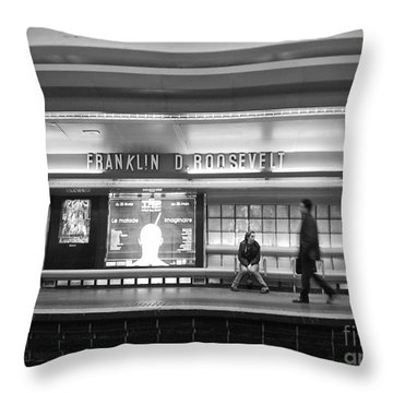 Paris Metro - Franklin Roosevelt Station Throw Pillow