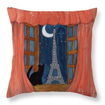 Paris Moonlight Throw Pillow