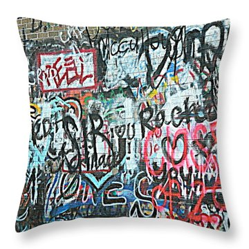 Throw Pillow featuring the photograph Paris Mountain Graffiti by Kathy Barney