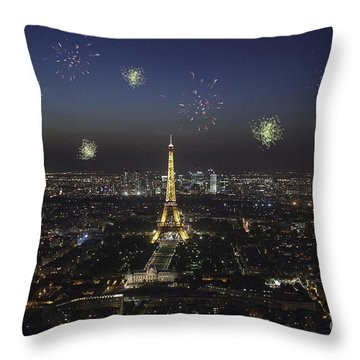 Paris Throw Pillow by Patricia Hofmeester
