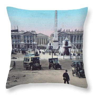 Paris Place De La Concorde 1910 Throw Pillow