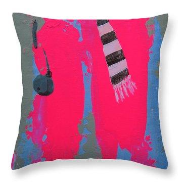 Throw Pillow featuring the painting Paris Promenade by Marina Gnetetsky