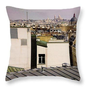 Paris Rooftop Panorama Throw Pillow by Thomas Marchessault