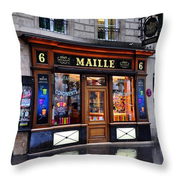 Paris Shop Throw Pillow