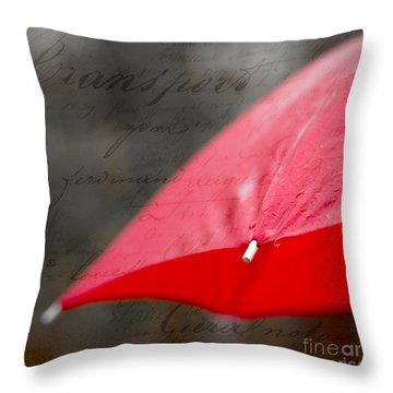 Paris Spring Rains Throw Pillow by Edward Fielding