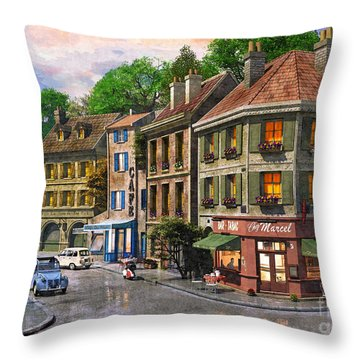 Paris Street Throw Pillow by Dominic Davison