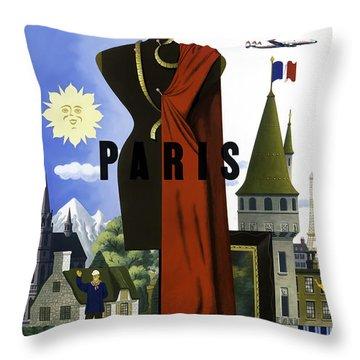 Paris Twa Throw Pillow by Mark Rogan