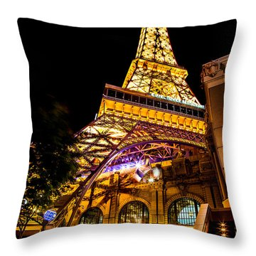 Paris Under The Tower Throw Pillow by Az Jackson