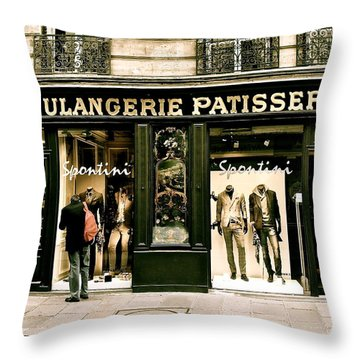 Throw Pillow featuring the photograph Paris Waiting by Ira Shander