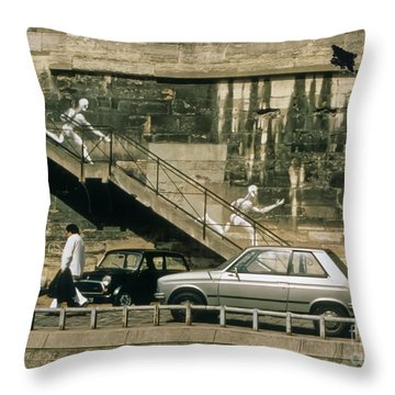 Paris Wall Throw Pillow by Thomas Marchessault