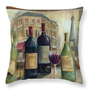 Paris Wine Tasting With A View Throw Pillow