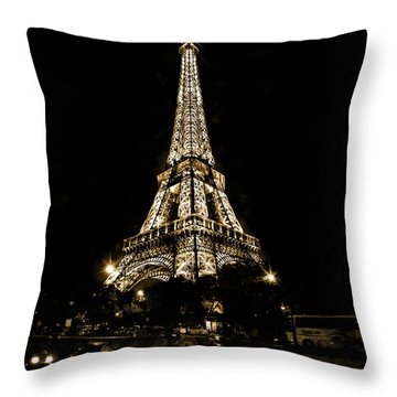 Throw Pillow featuring the photograph Paris Wonder by Cecil Fuselier