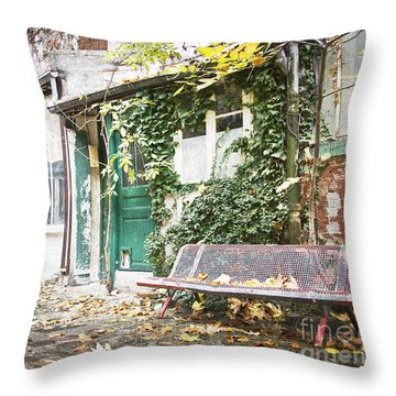 Parisian Alley Throw Pillow