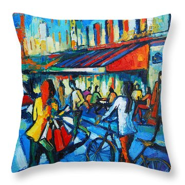 Parisian Cafe Throw Pillow