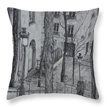 Parisienne Walkways Throw Pillow