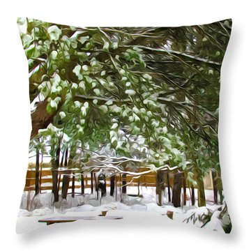 Park 1 Throw Pillow by Lanjee Chee