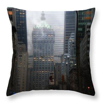 Park Avenue Dawn In Color Throw Pillow