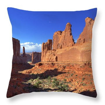 Park Avenue Sunset Throw Pillow