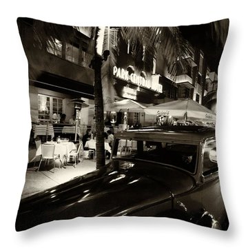 Throw Pillow featuring the photograph Park Central Hotel by Gary Dean Mercer Clark
