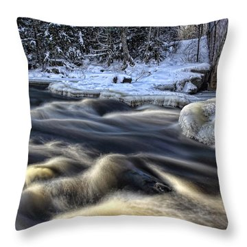 Eau Claire Dells Park Throw Pillow