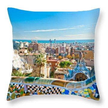Park Guell - Barcelona Throw Pillow