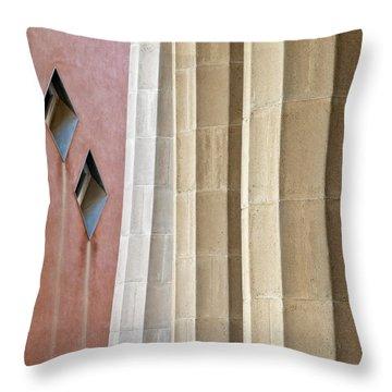 Park Guell Pillars Throw Pillow by Dave Bowman