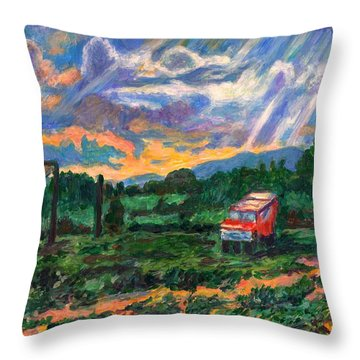 Park In Floyd Throw Pillow by Kendall Kessler
