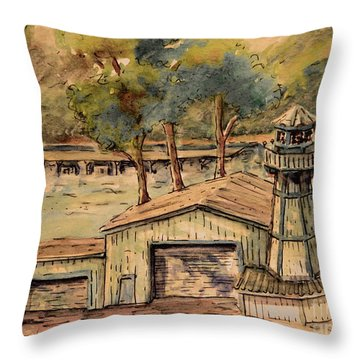Park Marina Throw Pillow by Gretchen Allen