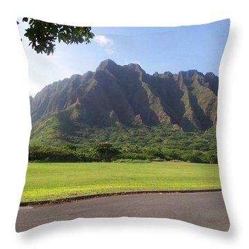 Park On Oahu Throw Pillow by Kenneth Cole